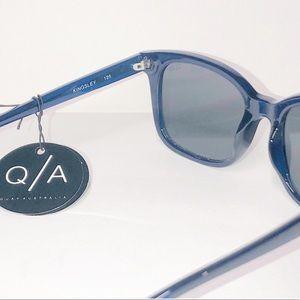 Quay Australia Accessories - Quay Australia Kingsley Blue &Smoke/Mirror Sunnies